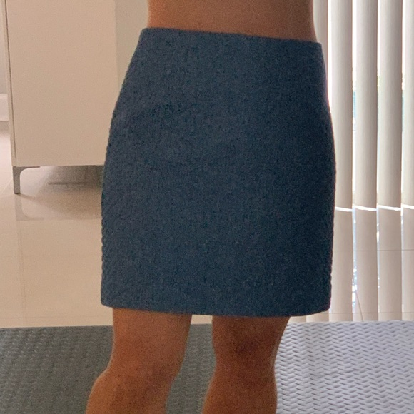 Mink Pink Quilted Blue Skirt S